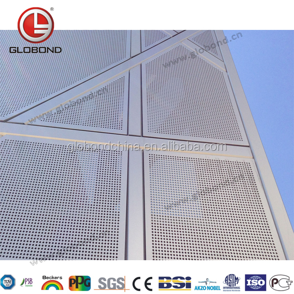 GLOBOND Aluminium Perforated Panel/ Aluminum Facade Screen