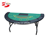 High quality 7 player half round 73 inch Blackjack poker Table with dealer tray