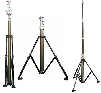 6 to 9 meter ground based telescopic photography sport video mast