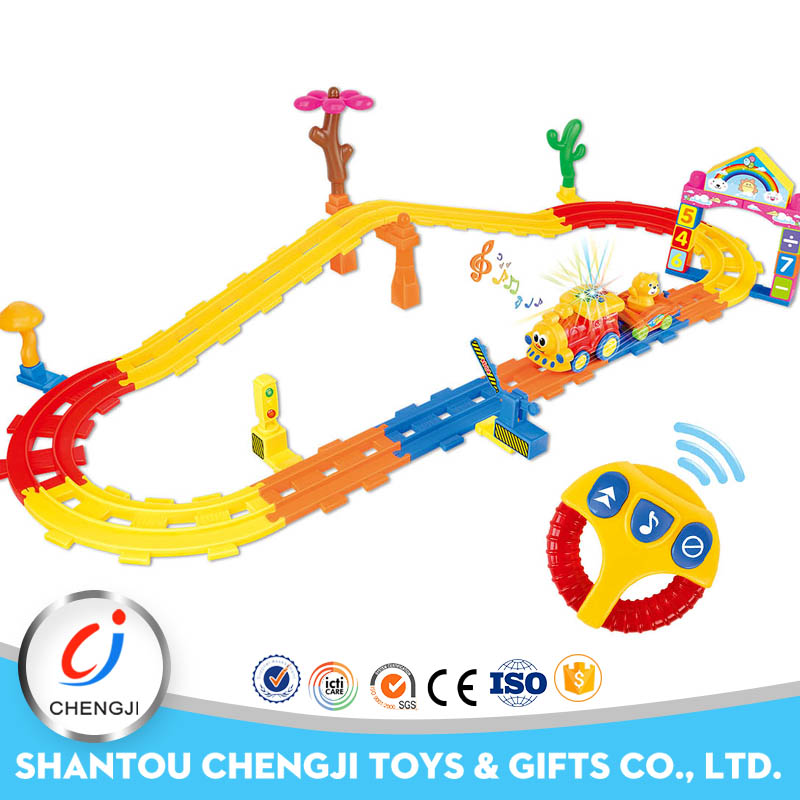 Hot selling fun cartoon magic track car toy for kids