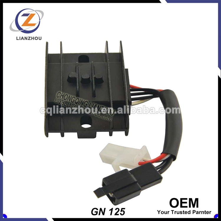 China OEM Part Haojue GN125 Motorcycle Voltage Regulator