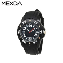 Fashion car racing style face classical red silicone strap women casual wrist watches sports black watch for men