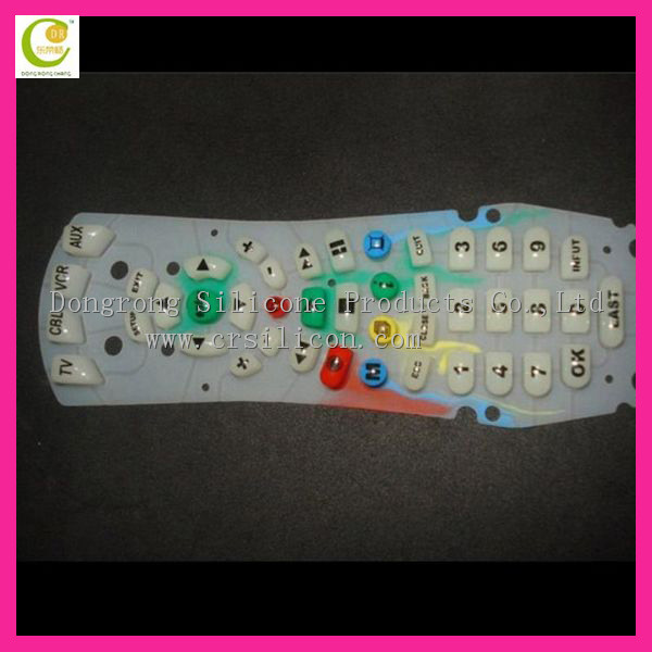 Silk Printing Silicon Remote Keypad for tv / Silicon Rubber Remote Pad Button / Silicone Key Button For Household Appliance