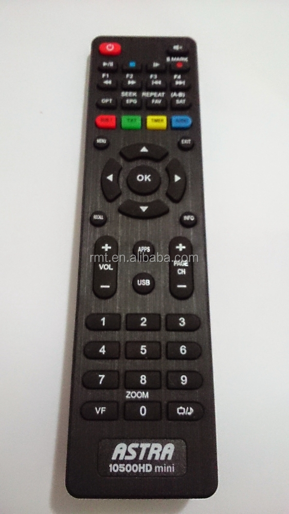 good quality infrared tv dvb satellite receiver remote control ASTRA 10500HD MINI for Egypt market