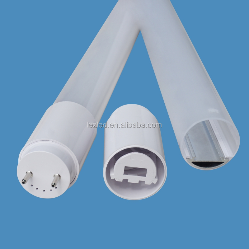 Hot sale G13 end caps 4ft t8 led tube light accessories with aluminum and pc extrusion