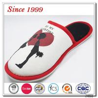 New design ladies flats cotton breathable woman slipper flat indoor slippers
