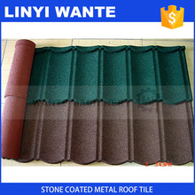 sand coated galvanized zinc metal flat roof tile