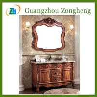 G93306 Antique Northeast China Ash Wood Hand Carved Bathroom Vanity