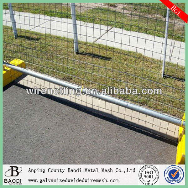 galvanized welded wire mesh temporary fence barrier