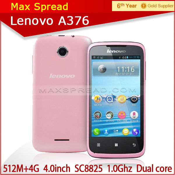 2014 4 inch Lenovo A376 phone Dual Core phone Android 4.0 low cost 3g smart phones