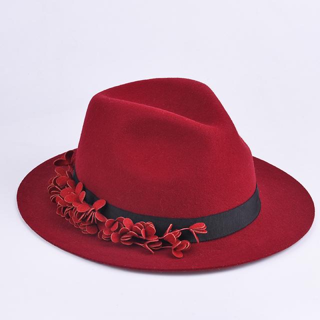 Cheap Wholesale Winter Panama Wool Hat Women