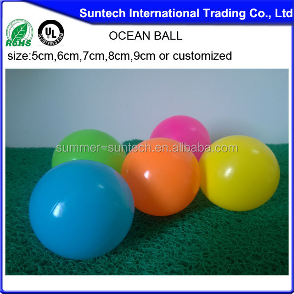 Solid 12inch plastic ball made in China