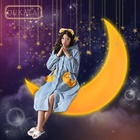 Women's flannel nightgown and bathrobe in autumn and winter