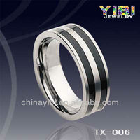 comfort fit enamel tungsten carbide rings jewellery, paypal accepted