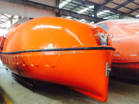 150 persons totally enclosed type fiberglass marine lifeboat equipment for sale