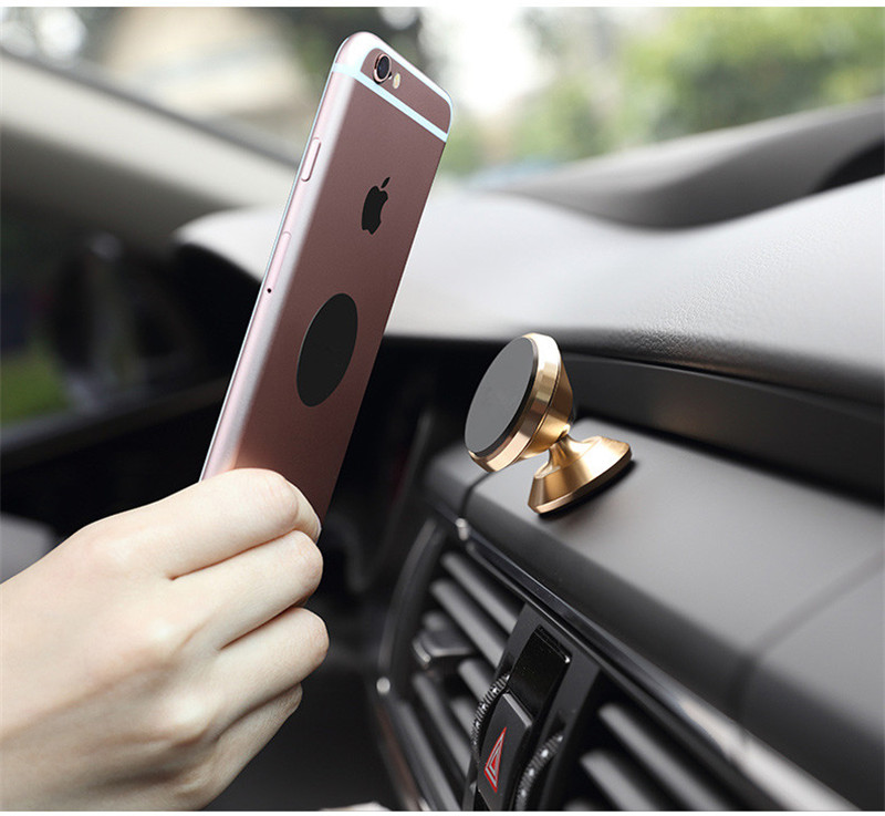 Universal Magnetic Car Phone Holder 360 Rotation Magnet Air Vent Mount Mobile Phone Holder For iPhone 6 6s 7 8 Plus for Samsung