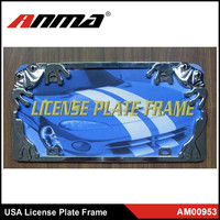 Wholesale high quality auto Metal car license plate frame USA size