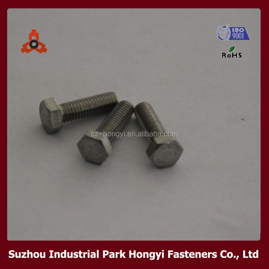 DIN933 Full Thread Stainless Steel Hex Bolts Wheel Used For High Quality Car