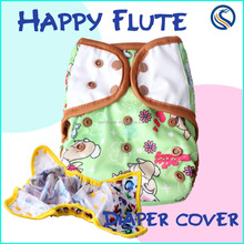 happy flute Baby Cloth Diaper waterproof Cloth nappy reuable hot print diaper cover factory