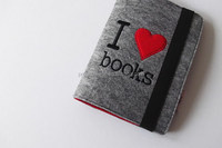 Eco friendly customized Felt Kindle Case I Love Books made in China