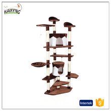 China factory supply good quality over 200cm tall cat condo,sisal cat tree,colorful cat scratcher for cats