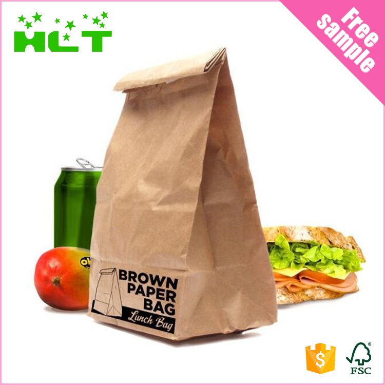 Eco burger bread greaseproof snack packaging paper lunch bag with logo