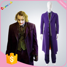 Free shipping popular movie the dark knight joker Cosplay Costume halloween costumes for men