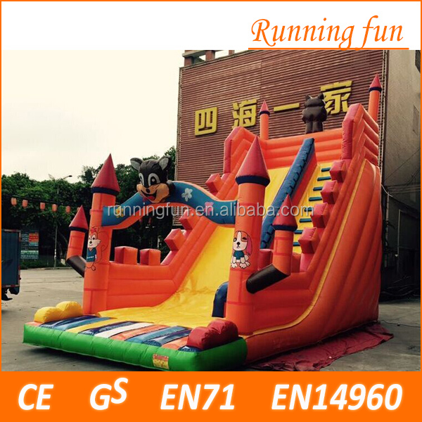 2016 most popular professional supplier giant inflatable slide, giant inflatable water slide, inflatable jumping slide