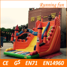 2017 popular design professional supplier giant inflatable slide, giant inflatable water slide, inflatable jumping slide