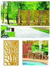 Metal decorative garden fence panels/Aluminum garden partition system