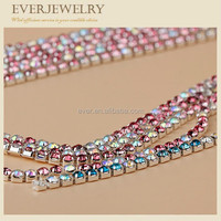 fashion garment accessory brass rhinestone cup chain trimming