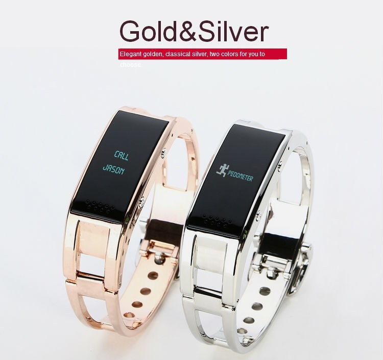2015 News Smart Sport Bracelet for Lady D8 Bluetooth Watch For Android Phone