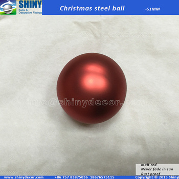 2inch Matt red Christmas steel ball
