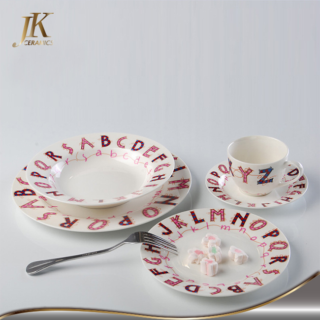 Fine china sute casual affordable patterns dinnerware dinner sets with high quality