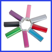 Free sample colorful Power bank charger 2600mAh 18650 usb powerbank 2600 mah protable Battery