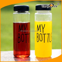 "Free shipping 500ml Korea style new design Today`s special plastic sports bike water bottle with words""My bottle"" and a gift bag"