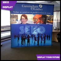 Trade show promotional fabric pop up display wall