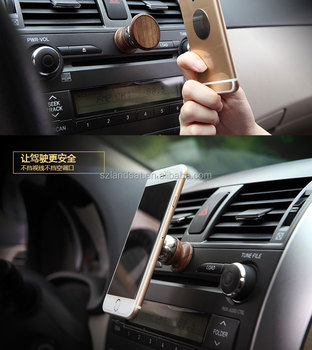 360 degree rotating wood vehicle mounted phone stand & phone sucker display wood stand/holder for car/wall mount/table