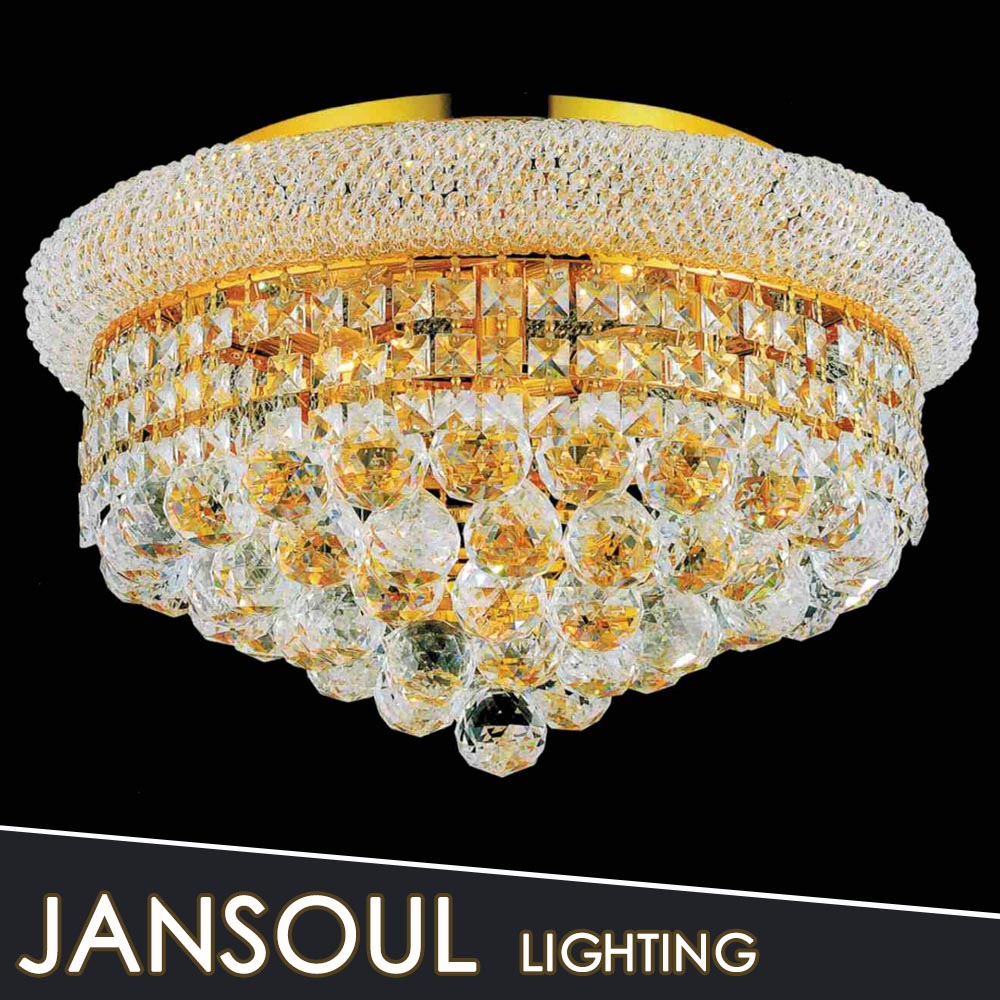 2016 new design round crystal ball modern crystal ceiling lamp