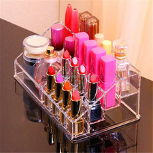Make Up Storage Box 16 Grids Jewelry Ring Ear Nail Cosmetic Storage Display Box Woman Acrylic Cosmetic Organizer Holder