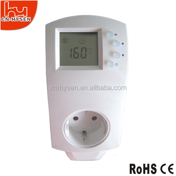 CE approved EU socket plug in room thermostat for heaters