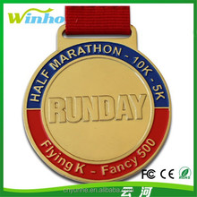 2014 New Product Custom Sport Medal with Ribbon/Metal Medal