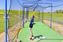 Professional baseball practice batting cage