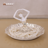 Home ornament customized ballet dancer fruit vegetable plate resin crafts table decoration art and craft