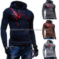 high quality logo embroidery sportwear men's hoodies and sweatshirts,casual slim fit hooded coats male