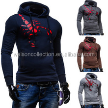 high quality <strong>logo</strong> embroidery sportwear men's hoodies and sweatshirts,casual slim fit hooded coats male