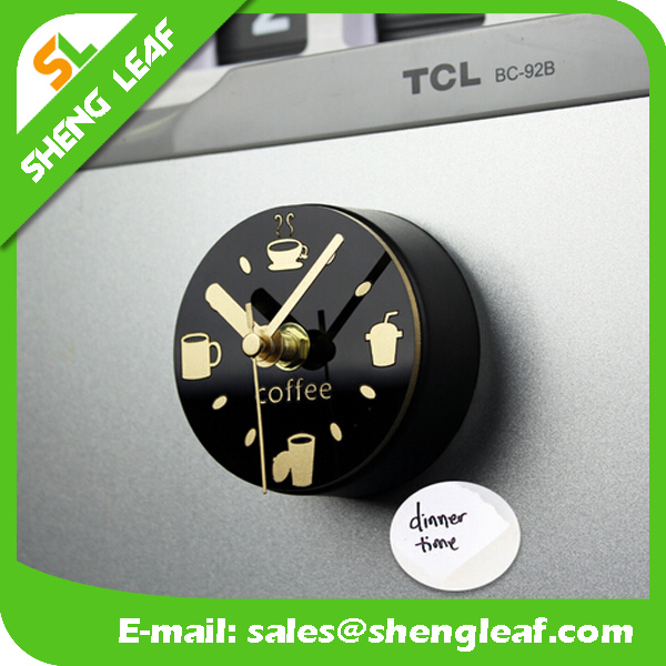 hot sale casual style message clock metal fridge magnet