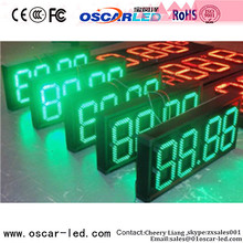 p10 stable gas/oil price led outdoor display price number small led single color led screen