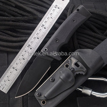 OEM D2 blade material hunting survival knife with fire starter