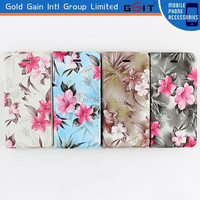 Red Rose Flower Floral Image PU Leather Flip Case Cover for iPhone 6 Plus 5.5